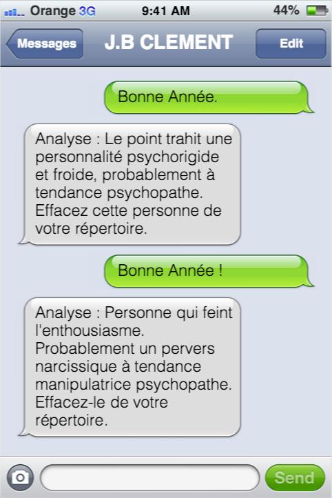 SMS mentaliste bonne annee